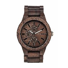 WEWOOD Herren Chronograph Quarz Smart Watch Armbanduhr mit Holz Armband WW30003